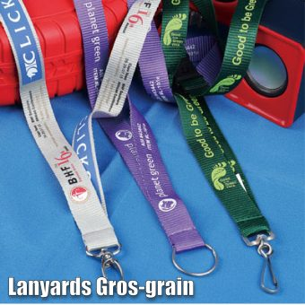 Lanyards in gros-grain