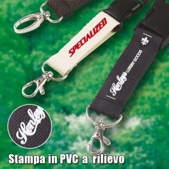 Lanyards logo pvc rilievo